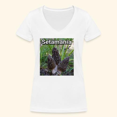 Colmenillas setamania - Camiseta ecológica mujer con cuello de pico de Stanley & Stella