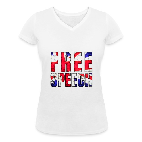 Free Speech UK - Women's Organic V-Neck T-Shirt by Stanley & Stella