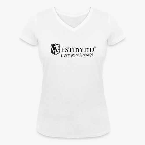 Westmynd - Larp aber herzlich SCHWARZ - Frauen Bio-T-Shirt mit V-Ausschnitt von Stanley & Stella