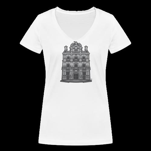 Ayuntamiento de Pamplona/Iruña - Camiseta ecológica mujer con cuello de pico de Stanley & Stella