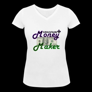 RF MONEY MAKER - Women's Organic V-Neck T-Shirt by Stanley & Stella