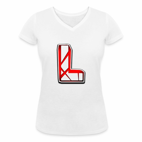Leon Schmidt LOGO - Women's Organic V-Neck T-Shirt by Stanley & Stella