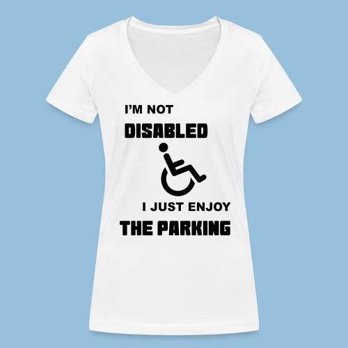 notdisabled1 - Vrouwen bio T-shirt met V-hals van Stanley & Stella