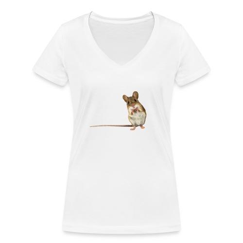 maus - Frauen Bio-T-Shirt mit V-Ausschnitt von Stanley & Stella
