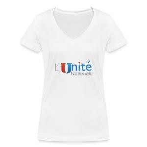 L´Unité Nationale - T-shirt bio col V Stanley & Stella Femme