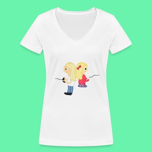 Gaming - Ekologisk T-shirt med V-ringning dam från Stanley & Stella