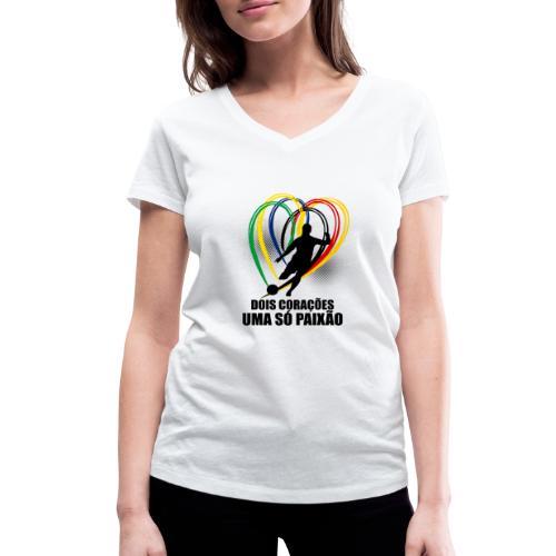 Fußball-Shirt Brasilien - Deutschland - Frauen Bio-T-Shirt mit V-Ausschnitt von Stanley & Stella