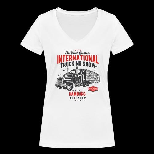 Hamburg Trucking Show - Frauen Bio-T-Shirt mit V-Ausschnitt von Stanley & Stella