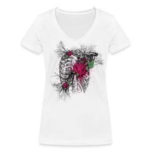 Rose Chest - Frauen Bio-T-Shirt mit V-Ausschnitt von Stanley & Stella