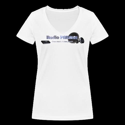 Radio PARALAX Facebook-Logo - Frauen Bio-T-Shirt mit V-Ausschnitt von Stanley & Stella