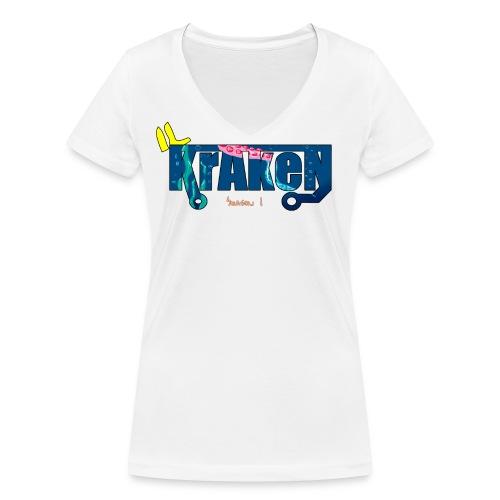 Season 1 rifinita - T-shirt ecologica da donna con scollo a V di Stanley & Stella