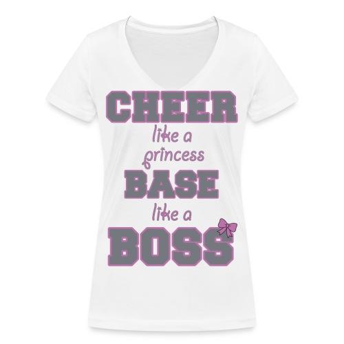 base like a boss - Frauen Bio-T-Shirt mit V-Ausschnitt von Stanley & Stella