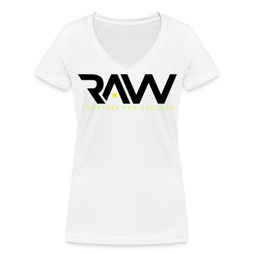 Raw - T-shirt Col V officiel - Femme - T-shirt bio col V Stanley & Stella Femme