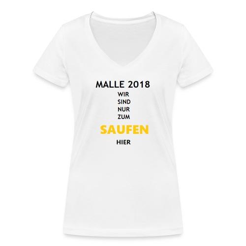 Mallorca 2018 Bierkönig SAUFEN - Frauen Bio-T-Shirt mit V-Ausschnitt von Stanley & Stella