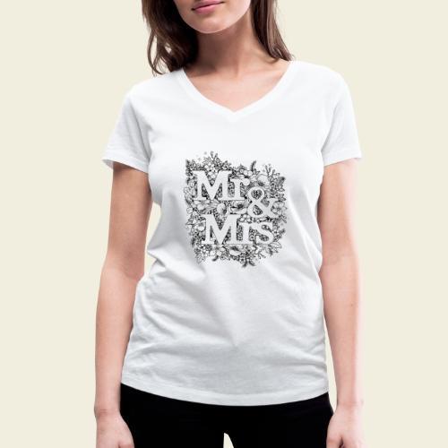 Mr and Mrs - Frauen Bio-T-Shirt mit V-Ausschnitt von Stanley & Stella