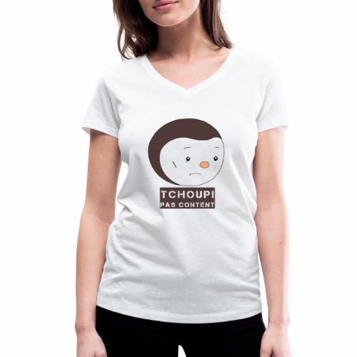 Tchoupi pas content ! - T-shirt bio col V Stanley & Stella Femme