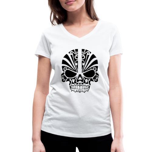 tribal skull - Frauen Bio-T-Shirt mit V-Ausschnitt von Stanley & Stella