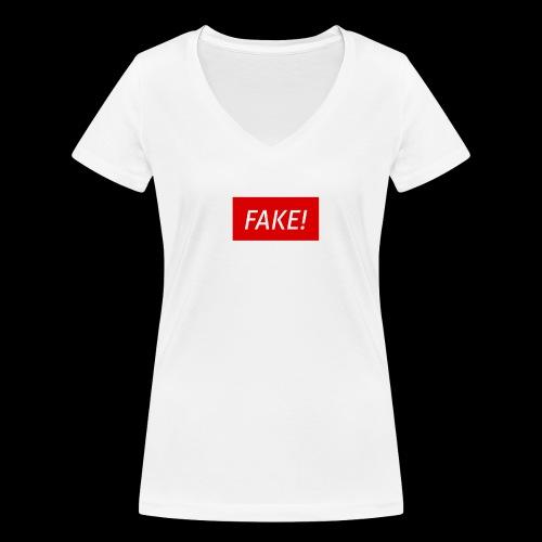 FAKE-Collection by ØNIC™ - Frauen Bio-T-Shirt mit V-Ausschnitt von Stanley & Stella