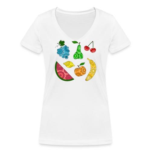 Obstsalat - Frauen Bio-T-Shirt mit V-Ausschnitt von Stanley & Stella