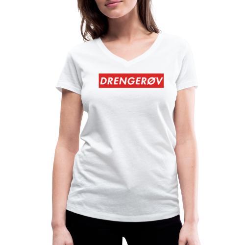 Drengerøv Box Logo Trøje - Økologisk Stanley & Stella T-shirt med V-udskæring til damer