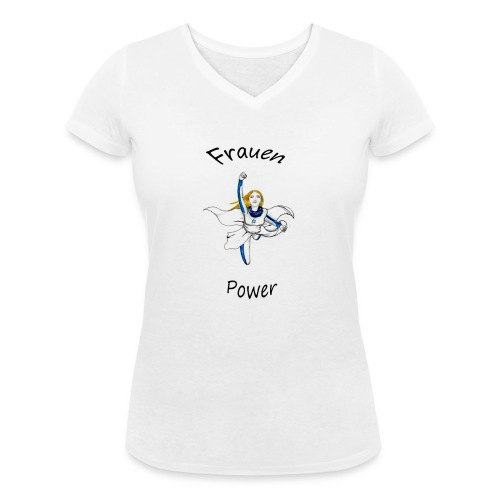 Frauenpower - Frauen Bio-T-Shirt mit V-Ausschnitt von Stanley & Stella