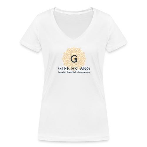 Logo Gelichklang bg-weiss - Frauen Bio-T-Shirt mit V-Ausschnitt von Stanley & Stella