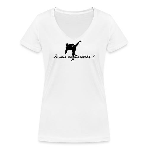 Je suis un karatéka ! - T-shirt bio col V Stanley & Stella Femme
