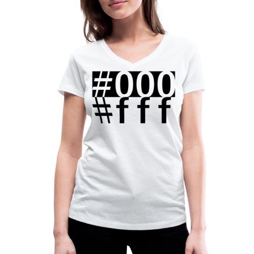 #000 & #fff - Frauen Bio-T-Shirt mit V-Ausschnitt von Stanley & Stella