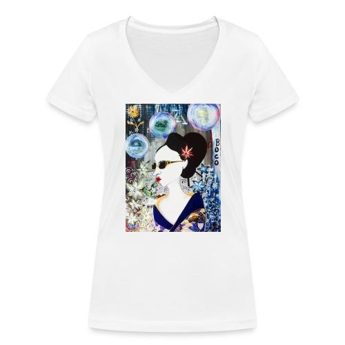 Geisha's Night Off - Women's Organic V-Neck T-Shirt by Stanley & Stella