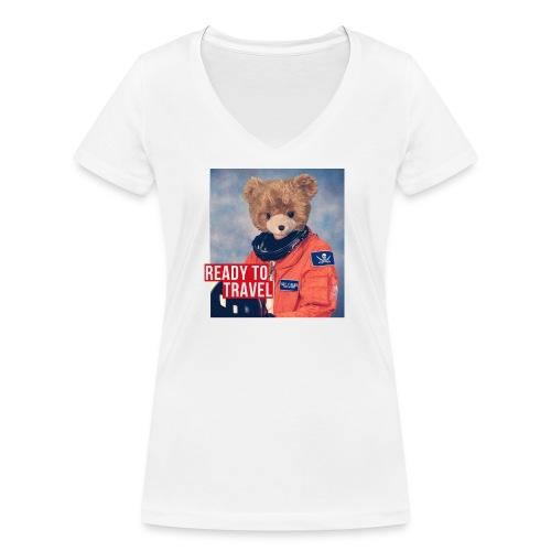 Ready to travel - T-shirt ecologica da donna con scollo a V di Stanley & Stella