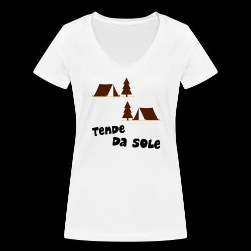 tende - T-shirt ecologica da donna con scollo a V di Stanley & Stella