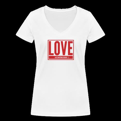 Love Las Canteras - Camiseta ecológica mujer con cuello de pico de Stanley & Stella