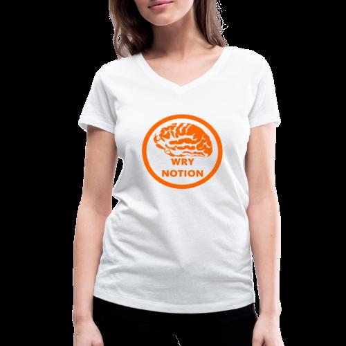 WRYNOTION Brain Logo - Frauen Bio-T-Shirt mit V-Ausschnitt von Stanley & Stella