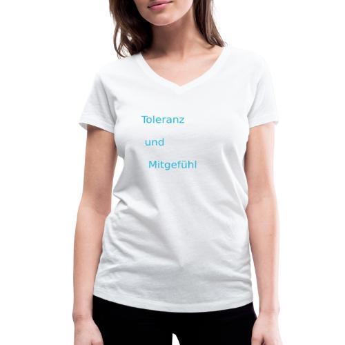ToleranzUndMitgefuehl - Frauen Bio-T-Shirt mit V-Ausschnitt von Stanley & Stella