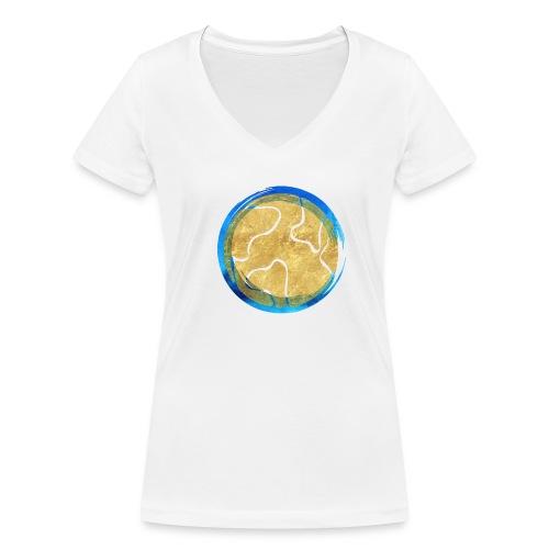 Weltkugel Hebammen - Frauen Bio-T-Shirt mit V-Ausschnitt von Stanley & Stella