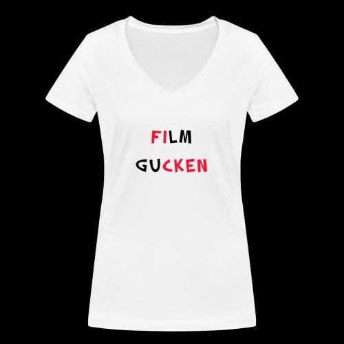 Willst du Film gucken?? - Frauen Bio-T-Shirt mit V-Ausschnitt von Stanley & Stella