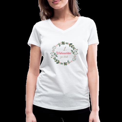 1. Weihnachten zu dritt - Frauen Bio-T-Shirt mit V-Ausschnitt von Stanley & Stella