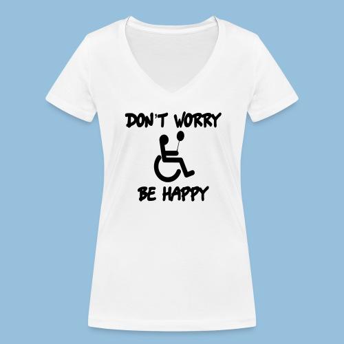 dontworry - Vrouwen bio T-shirt met V-hals van Stanley & Stella
