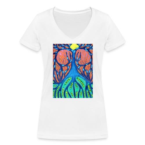 Drapiężne Drzewo - Ekologiczna koszulka damska z dekoltem w serek Stanley & Stella
