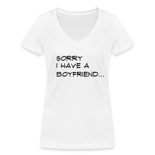 sorry - T-shirt bio col V Stanley & Stella Femme