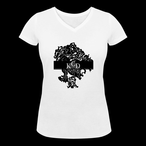 KCD Small Print - Vrouwen bio T-shirt met V-hals van Stanley & Stella