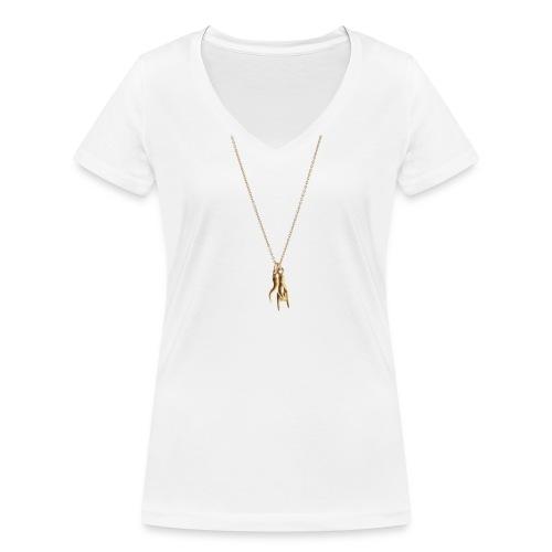 Anti Malocchio - Frauen Bio-T-Shirt mit V-Ausschnitt von Stanley & Stella