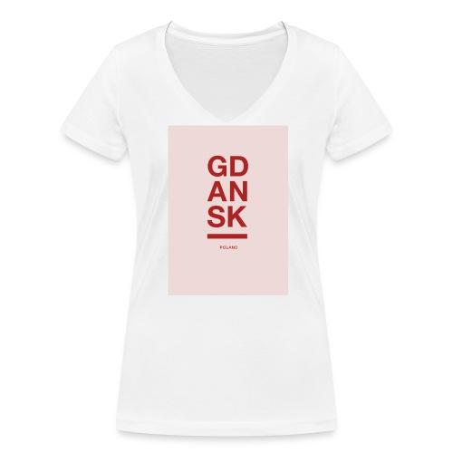 Limited Edition GDANSK - Frauen Bio-T-Shirt mit V-Ausschnitt von Stanley & Stella