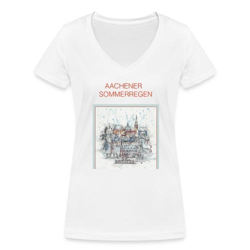 Aachener Sommerregen - Frauen Bio-T-Shirt mit V-Ausschnitt von Stanley & Stella