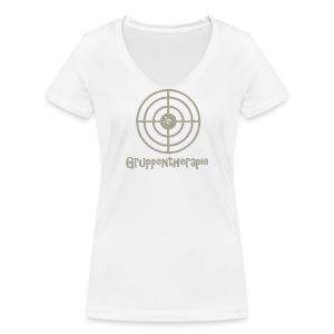Gruppentherapie! - Frauen Bio-T-Shirt mit V-Ausschnitt von Stanley & Stella