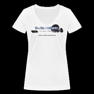 Radio PARALAX Facebook-Logo mit Webadresse - Frauen Bio-T-Shirt mit V-Ausschnitt von Stanley & Stella
