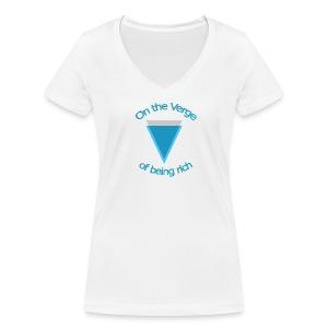 Verge met lijn - Vrouwen bio T-shirt met V-hals van Stanley & Stella