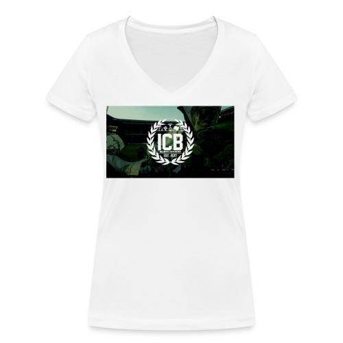 ICB Logo mit Hintergrund - Frauen Bio-T-Shirt mit V-Ausschnitt von Stanley & Stella