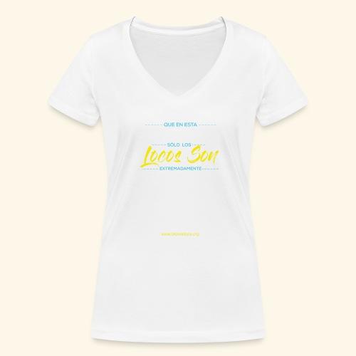 Extremadamente Felices - Camiseta ecológica mujer con cuello de pico de Stanley & Stella