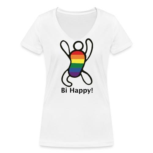 Bi Happy! - Vrouwen bio T-shirt met V-hals van Stanley & Stella